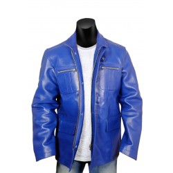 Blue Diamond Leather Jacket