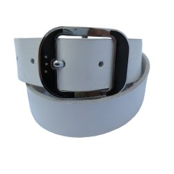 WHITE COLOR LEATHER BELT