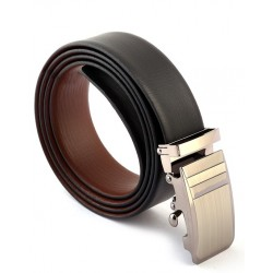 Auto Lock Black Brown Leather Belt