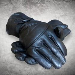 Soft Black Leather Gloves