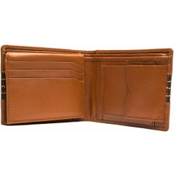 Black buffalo brown tan wallet