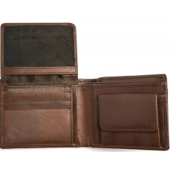 Black buffalo chocolate brown colour wallet