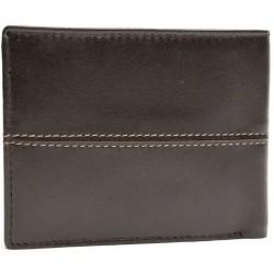Black buffalo double stitch wallet
