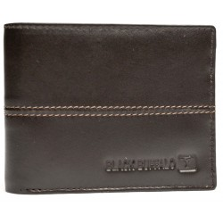 Black buffalo brown  two stitch tan wallet