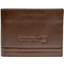 Black buffalo brown wallet for daily use