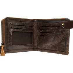 Esiposs chocolate brown leather wallet