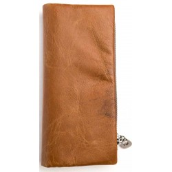 Esiposs brown unisex leather wallet
