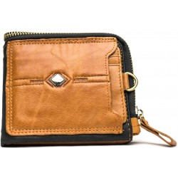 Esiposs brown black leather wallet