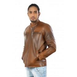 Hiller Tan Leather Jacket
