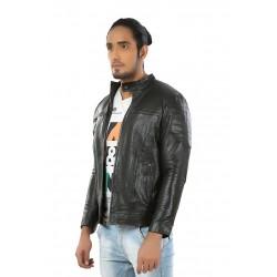 Hiller Black Leather Jacket