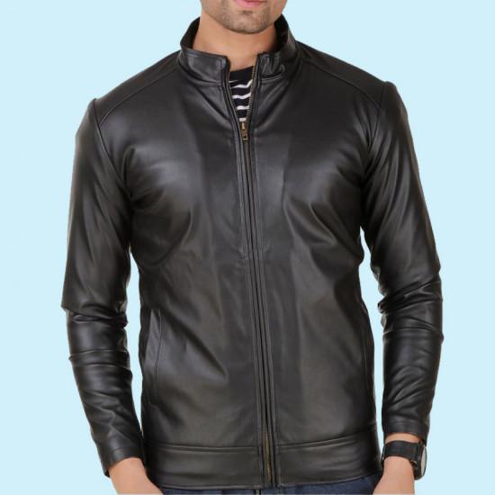 Black Stylish PU Leather Jacket