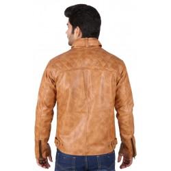 Shaded light brown HILLER leather Jacket