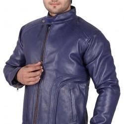 Blue Colour leather jacket