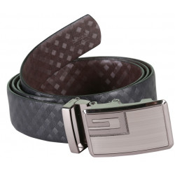Classy Designer Black Leather Belt With Auto Lock Buckle