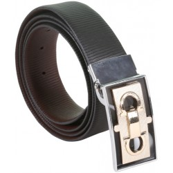 BlackBrown Two sided Designer Leather Belt With Auto Lock Buckle