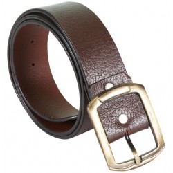 SleekNShine Brown Belt with Pin Buckle