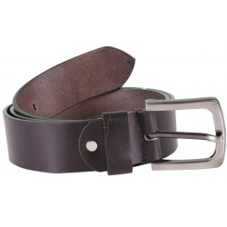 Plain Black Belt with Metallic Pin Buckle