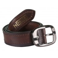 Hiller Double Stitched Tan Leather  Belt