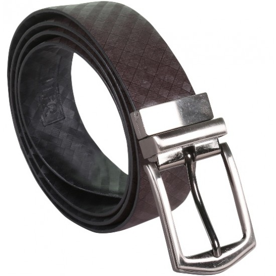 Designer Brown Belt With Silver Pin Buckle