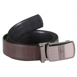 Designer Brown Leather Belt With AutoLock Buckle