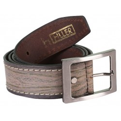 RoughNTough Brown Single Stitched Leather Belt With Pin Buckle