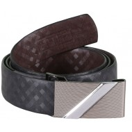 SleekNshine Chequer Black Belt With Auto Lock Buckle