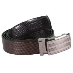 Seek Designer Brown Leather Belt With AutoLock Buckle