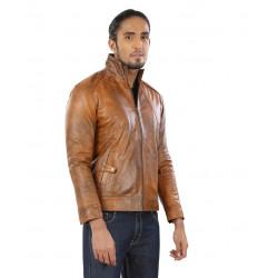Maple Tile Leather Jacket