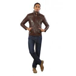 Kenya Kelp Leather Jacket