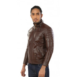 Hiller Brown FAUX Leather Jacket