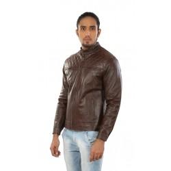 Hiller Brown Leather Jacket