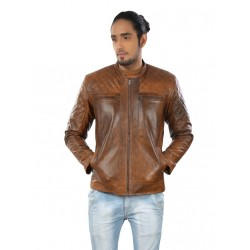Caressa Coffee Leather Jacket