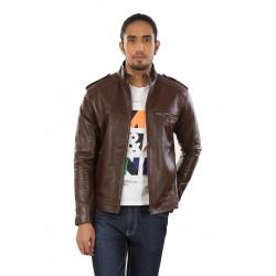 Glazed Autumn Leather Jacket