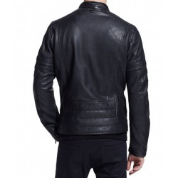Two middle long zip black colour jacket