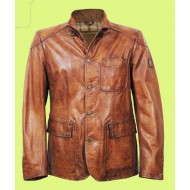 Three Pocket Leather Jacket