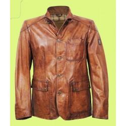Three Pocket Leather Jacket