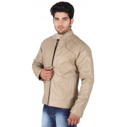 HILLER Beige Colour leather Jacket