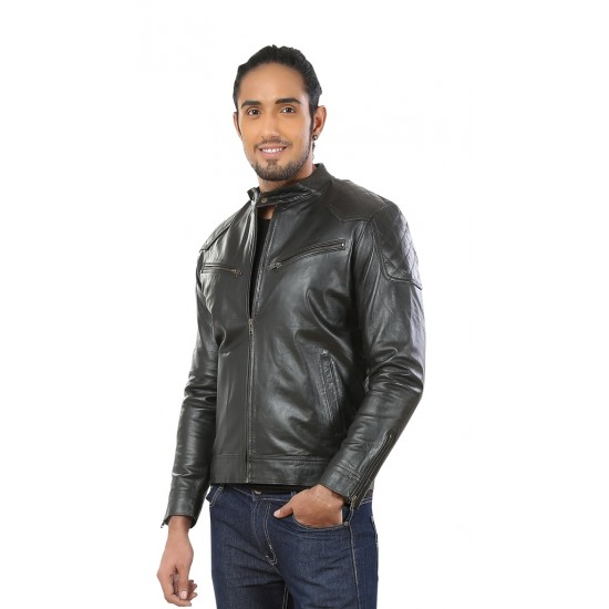 Black Stylish Leather Jacket