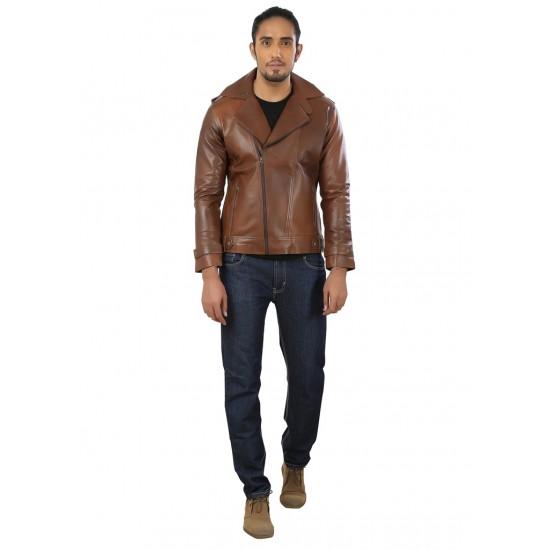 Tan Stylish Leather Jacket