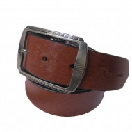 Smooth Texture Brown Leather Belt