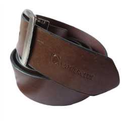 Smooth Texture Tan Leather Belt
