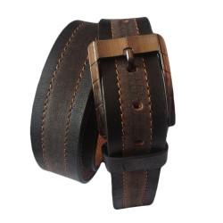 Dual Color Leather Belt