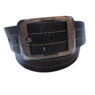 Double Stitched Leather Belt