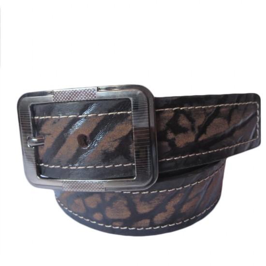 Black Burnt Leather Belt