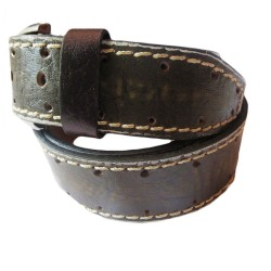 Rough Skin Texture Leather Belt