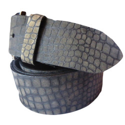 Crocodile Texture Leather Belt
