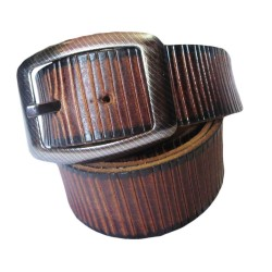 Wood Texture Leather Belt