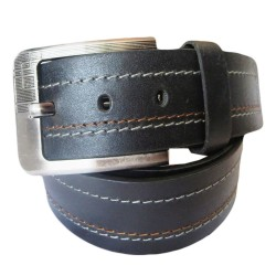 Triplet Stiched Leather Belt