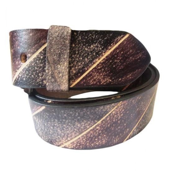 Burnt Tan Leather Belt
