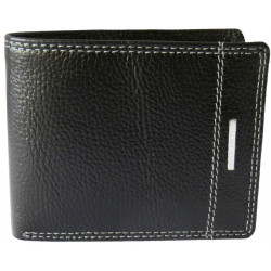 White Stiched Leather Wallet